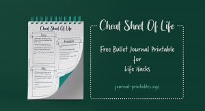 37 Cheat Sheet of Life Hacks – Key Bullet Journal Spread